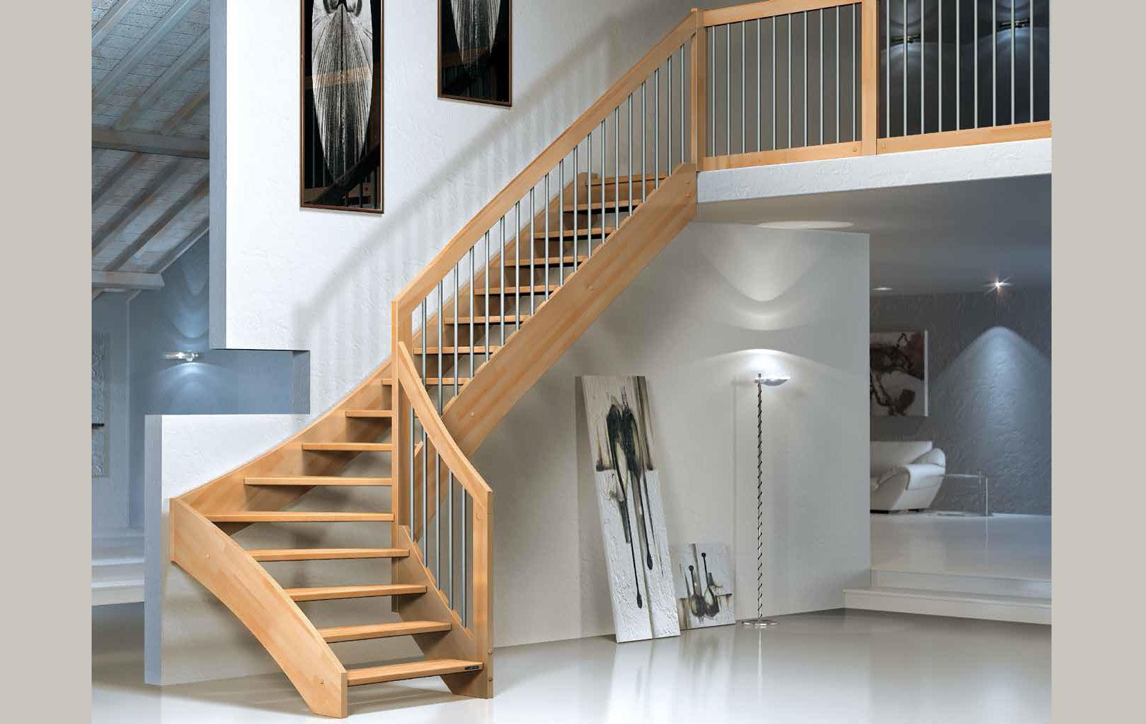 Scale di legno da interni gx72 pineglen - Scale classiche per interni ...