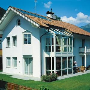Verande in alluminio finstral maffeisistemi infissi e for Piani di veranda anteriore
