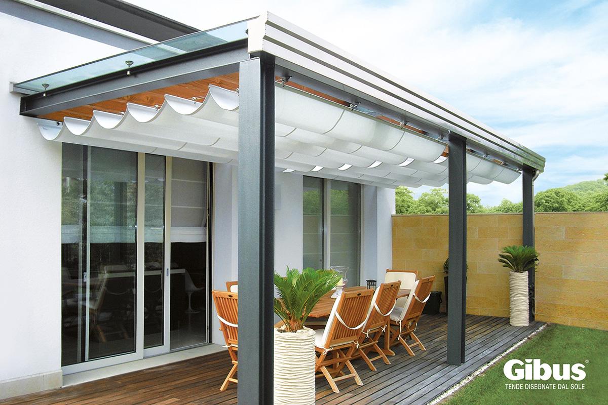 Tende per tettoie in legno ll74 regardsdefemmes for Tende x esterno
