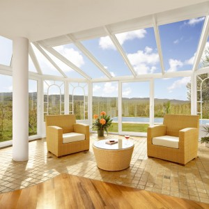 Veranda in PVC vista interna