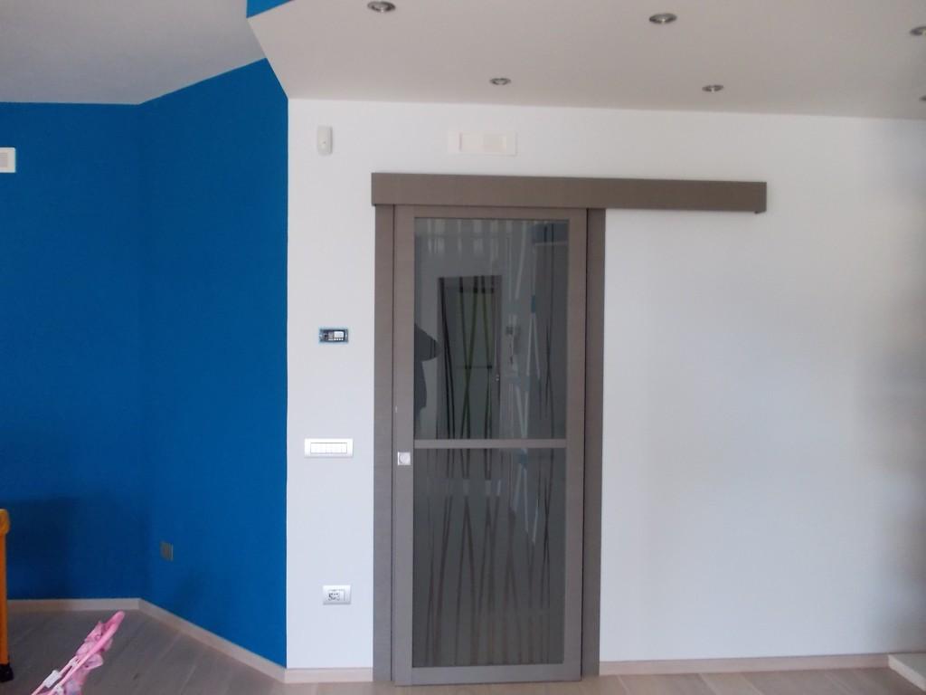 Porte per interni vetrate e sistemi raso parete maffei - Porta mantovana ...