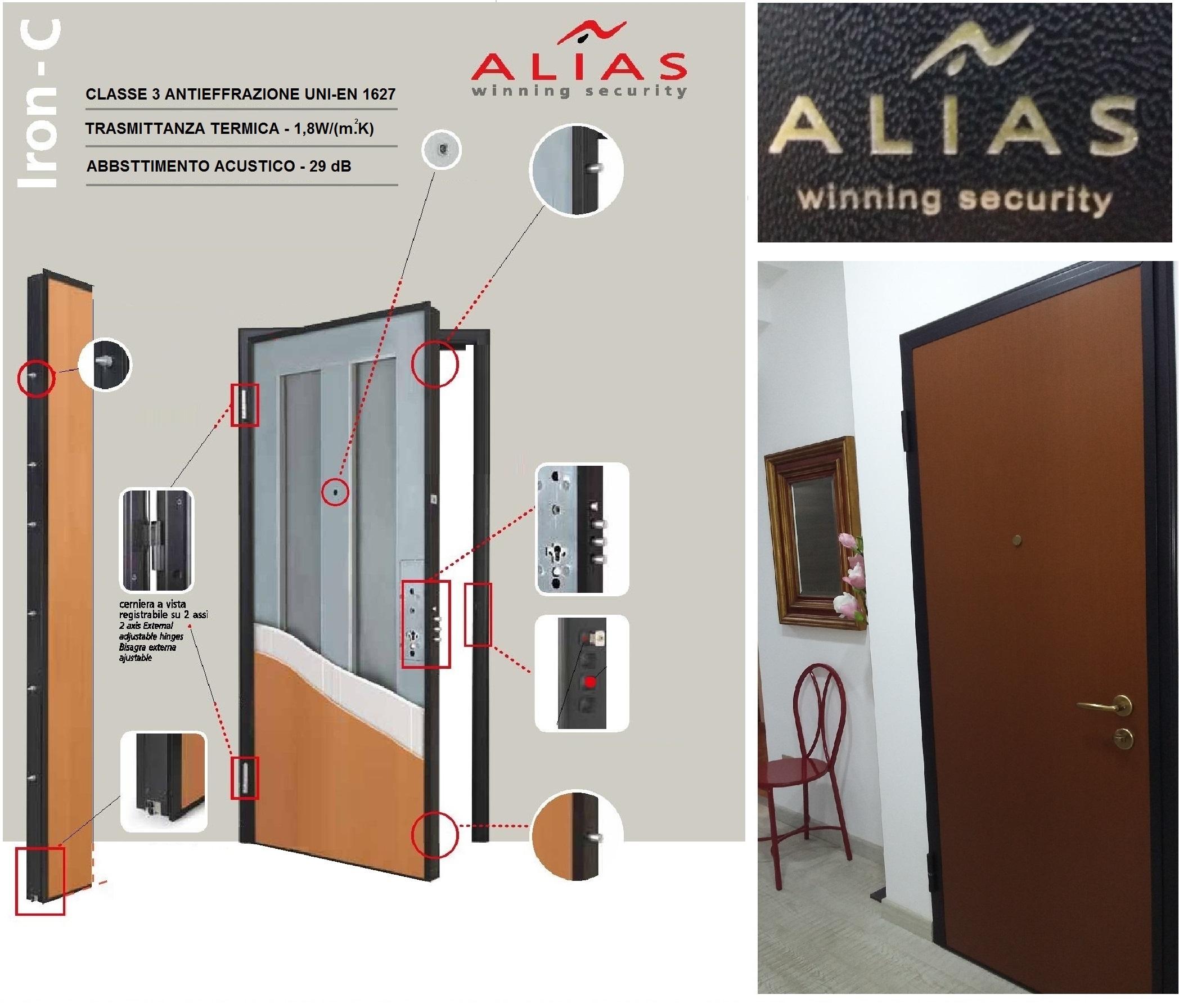 Porta blindata alias mod iron c classe rc3 antieffrazione for Porte blindate alias modello steel