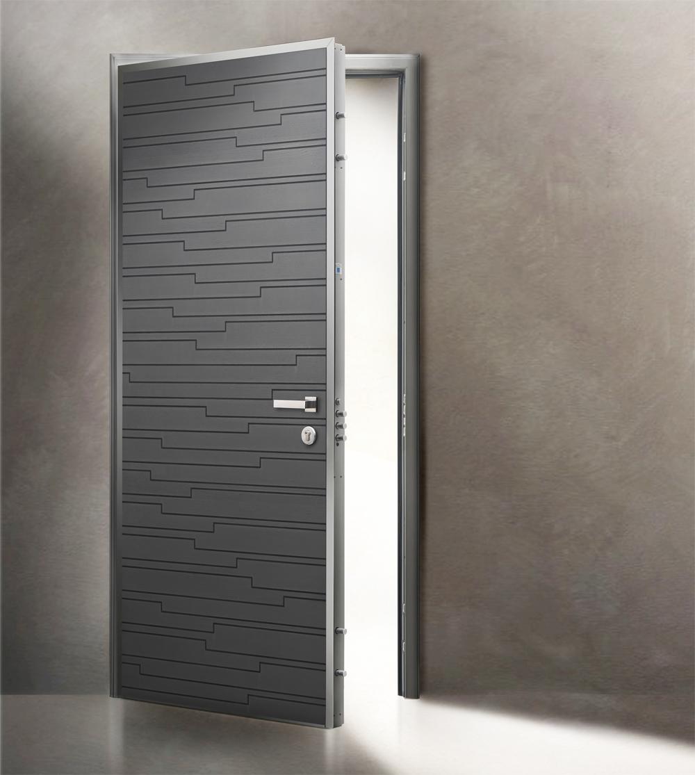 Porta blindata mod silver c di alias con cerniere a for Alias blindate