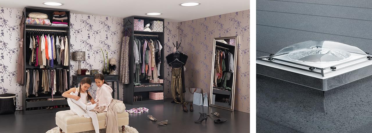 tunnel solare velux tcr0010 per tetti piani maffei sistemi srl vendita infissi online. Black Bedroom Furniture Sets. Home Design Ideas
