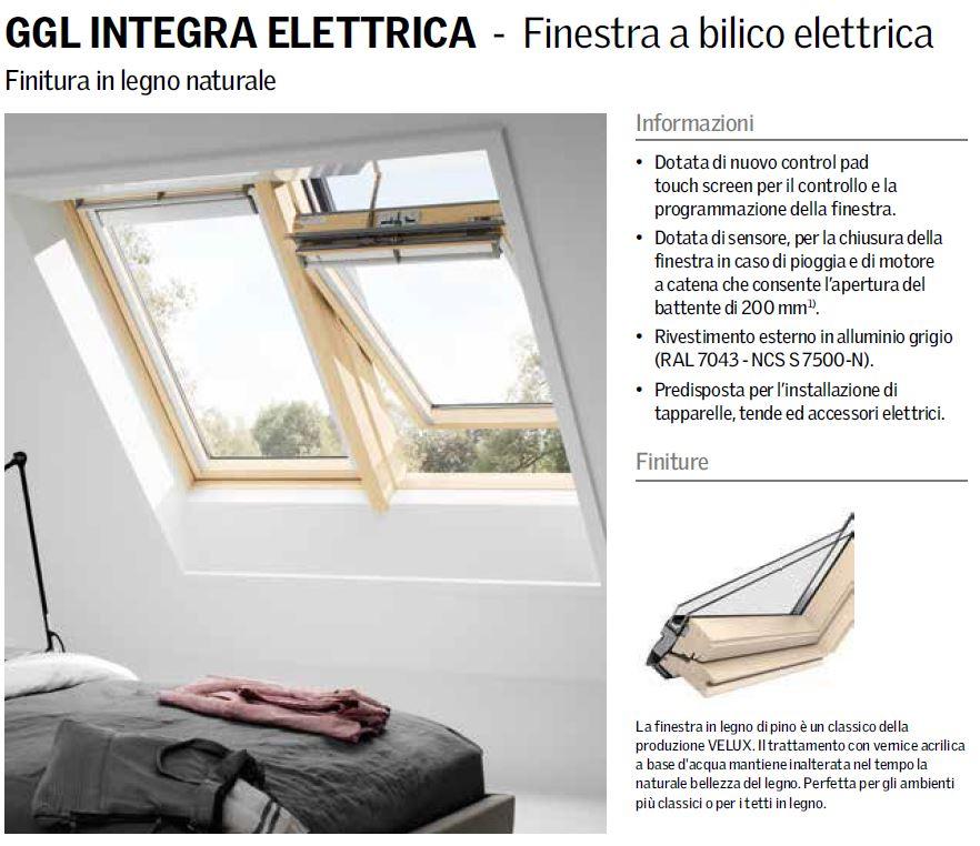 Velux ggl 307021 finestra per tetto apertura elettrica for Tapparelle per velux