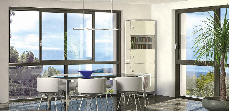 Novit finstral porta finestra scorrevole easy slide in Finestra grande scorrevole