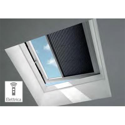 Tenda filtrante plissettate interne elettriche velux fmg - Tende per finestre interne ...