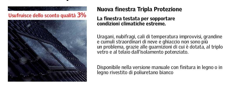 Novit velux nuova finestra tripla protezione maffei for Velux online vendita