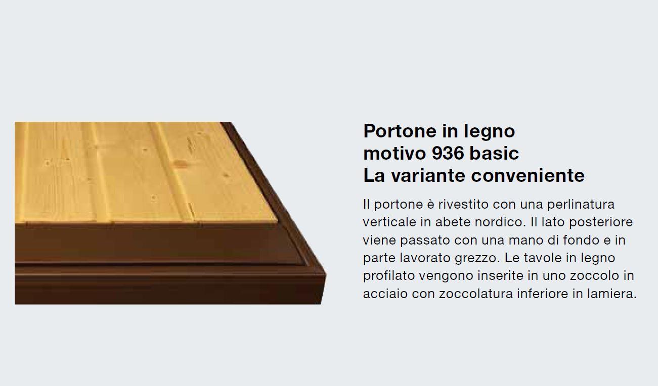 Schemi Elettrici Hormann : Porta basculante hormann mod. berry n80 in legno motivo 936 basic