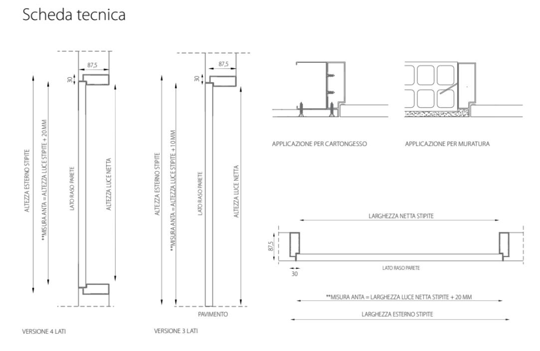 Sistema di chiusura fantasmino 1 anta verticale mdf for Scheda tecnica anta ribalta giesse