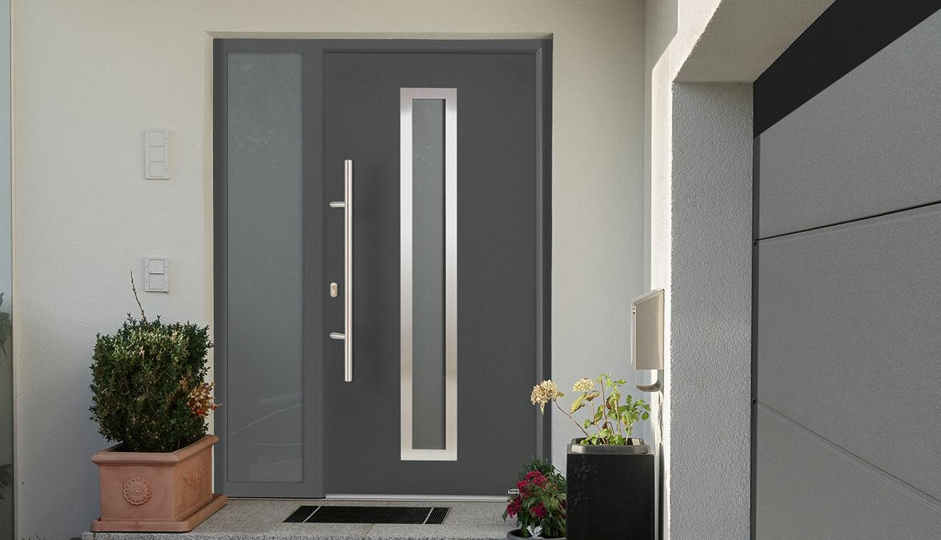 Porta d\'ingresso in acciaio/alluminio Thermo65 HORMANN | Maffei Sistemi srl  Vendita infissi online