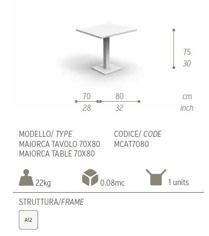 MAIORCA 70 X 80