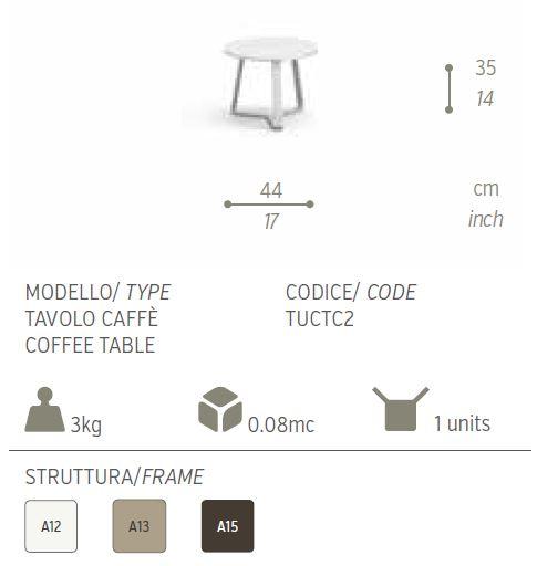 TAVOLINO CAFFE BASSO