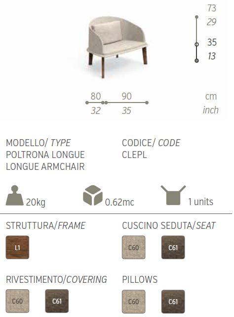 cleo poltrona lounge descriz