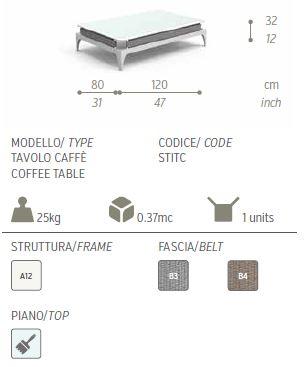 stripe tavolino