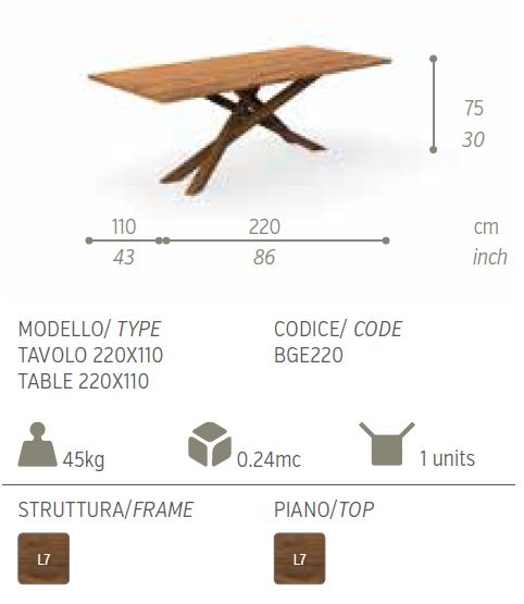 tavolo 220