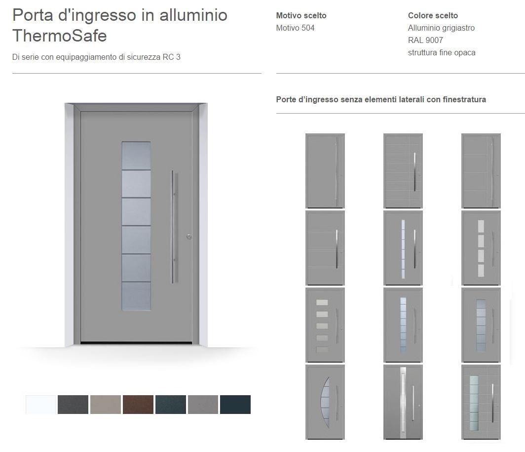 Super Porta d'ingresso in alluminio ThermoSafe HORMANN | Maffei Sistemi  SK67