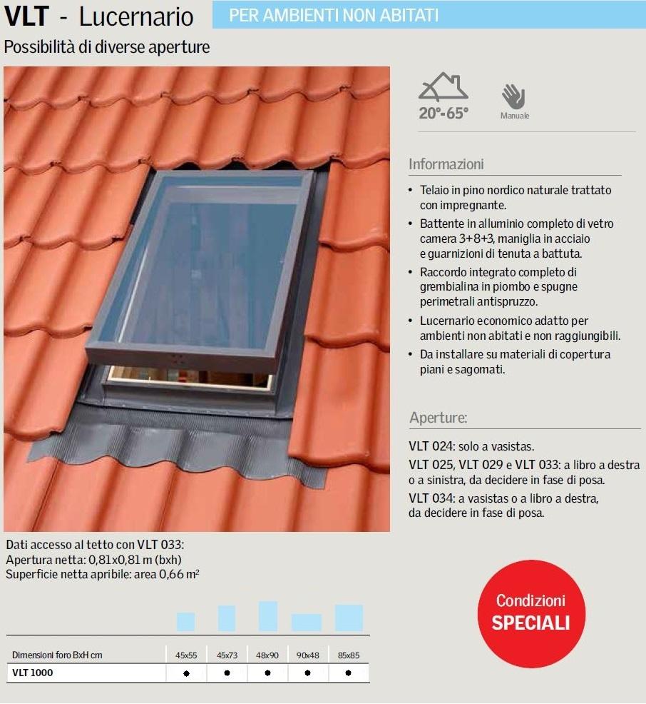 Lucernario vlt velux maffei sistemi srl vendita infissi online - Dimensioni standard finestre ...