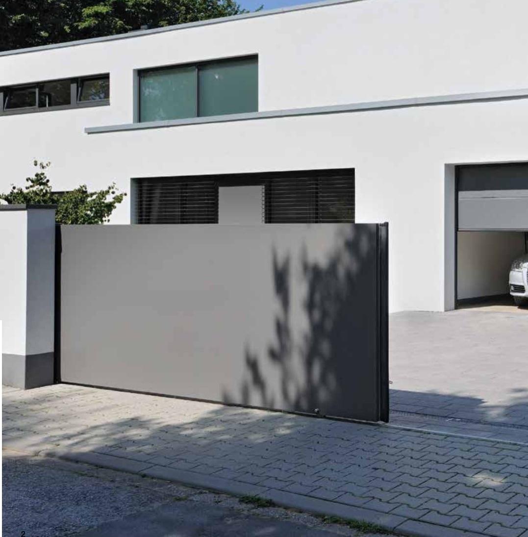Motorizzazioni per cancelli scorrevoli lineamatic hormann for Casa con garage laterale