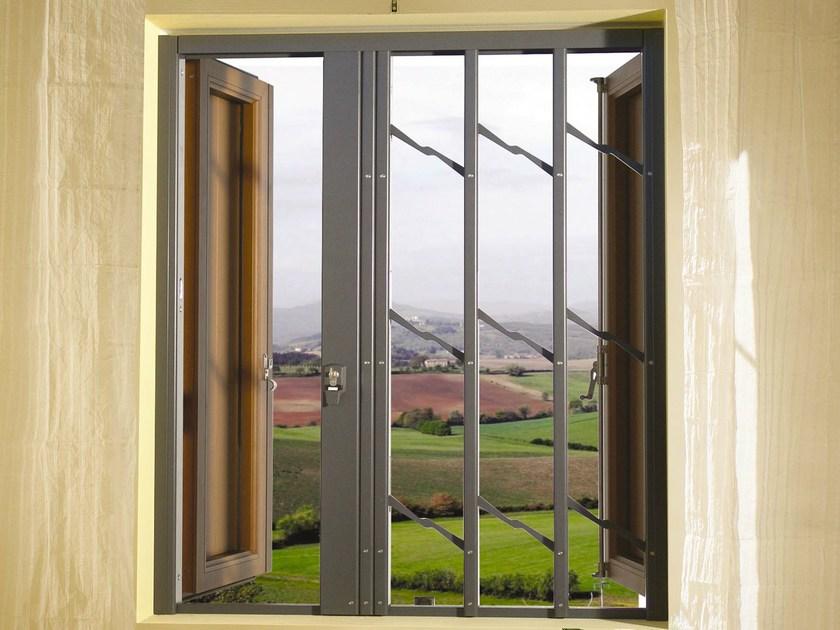 Inferriata impacchettabile blindata per balcone classe antieffrazione rc3 praesidium mod q7 - Hermes porte e finestre srl ...