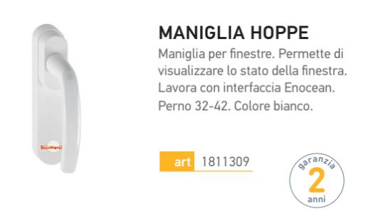 MANIGLIA HOPPE SOMFY   Maffei Sistemi srl Vendita infissi online